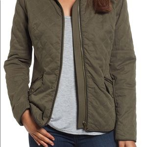 Quilted army green jacket